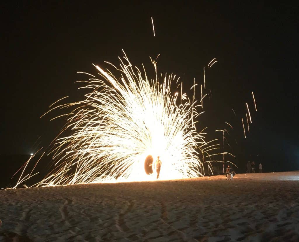 Things to do on ko lanta- -Fire show