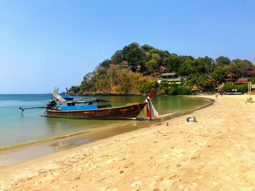 Longtail Boat on Kantiang Beach. Things to do in Koh Lanta