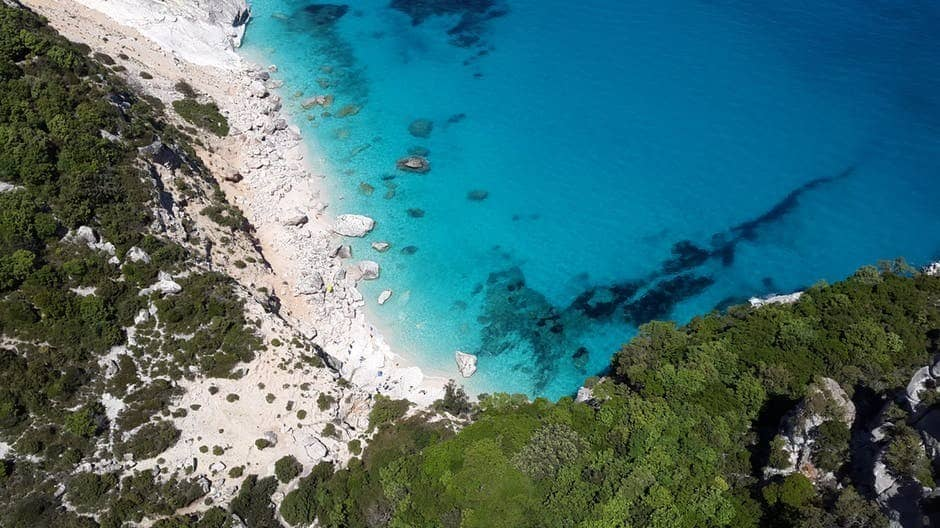 Where to go in Sardinia: aerial image of Costa Smeralda