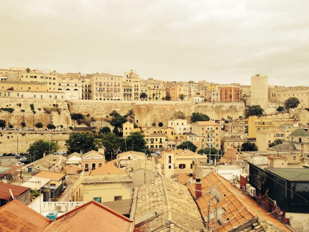 Cagliari cityscape. An idea of where to go is Sardinia