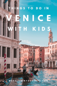 Things to do in Venice With Kids: Explore this fairytale city with your family. Ride a gondola, visit Murano, make a mask. So many great things to do #Venice #FamilyTravel #Italy