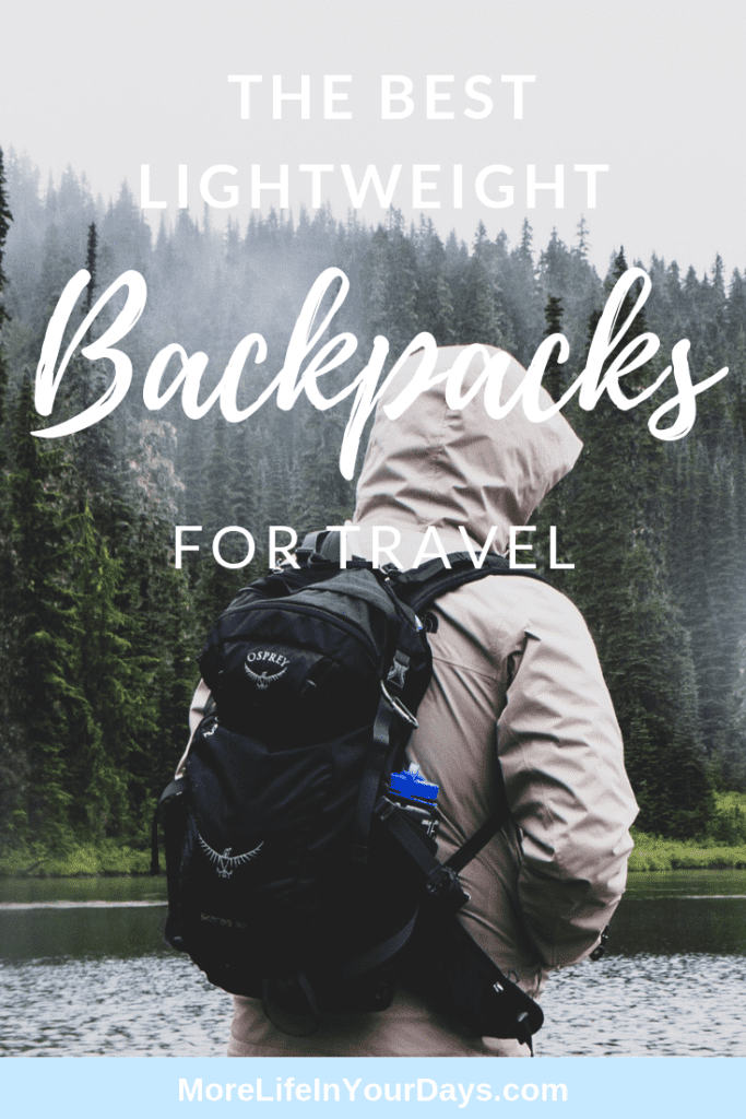 Best Lightweight Backpacks for Travel pin