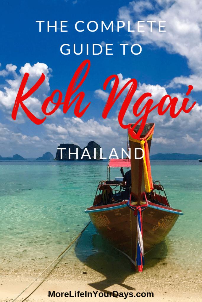 Guide to Koh Ngai Thailand