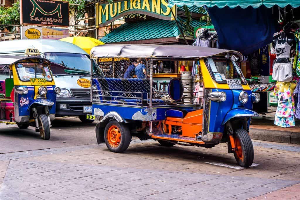 Bangkok 4 Day itinerary - Tuk Tuk driving through the city