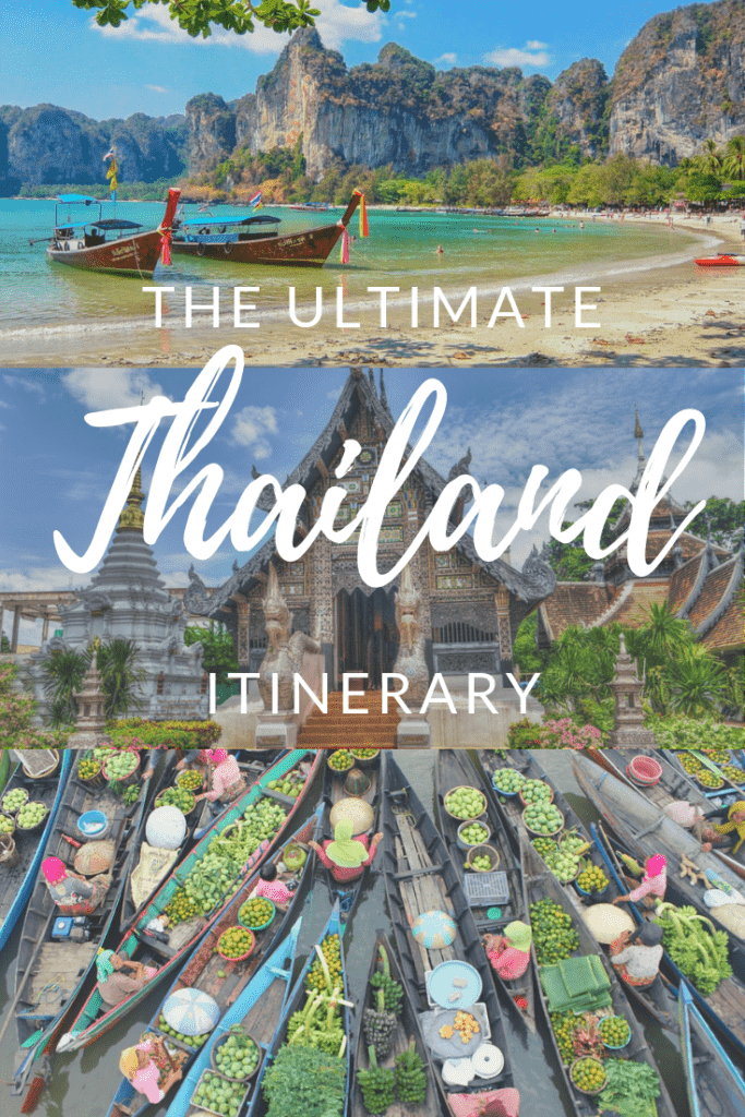 10 Day Thailand Itinerary - floating market, beach and temple