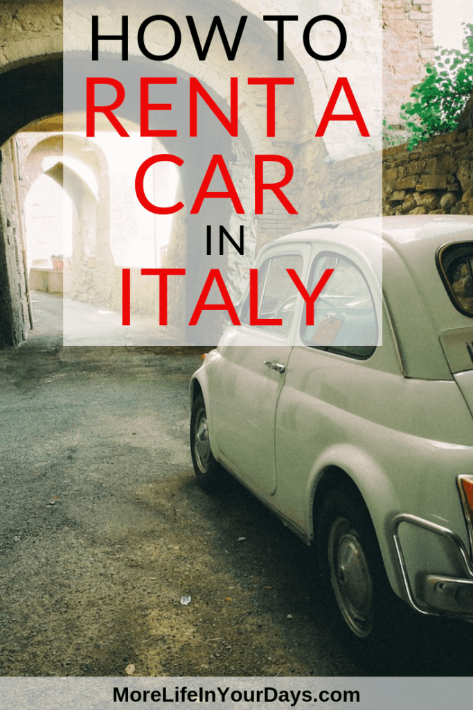 How to Rent a car in Italy: fiat 500