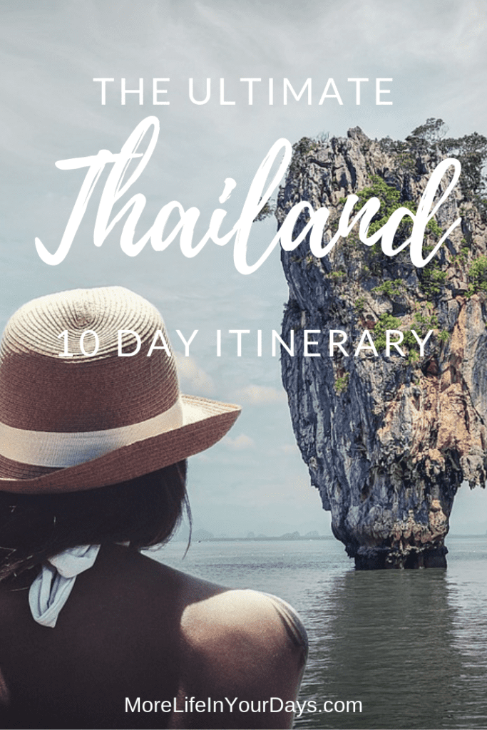 Thailand 10 Day Itinerary Pin