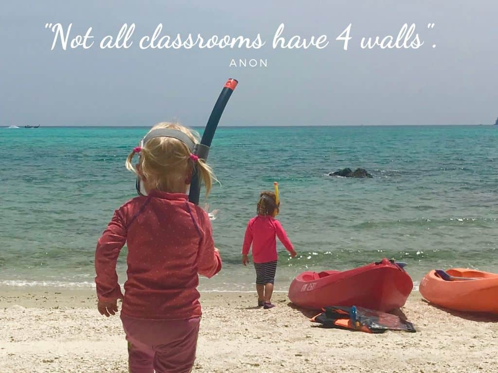 "Best Family Travel quotes: ""Not all classrooms have 4 walls"""