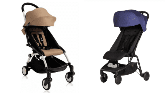 side by side image of nano and yoyo strollers