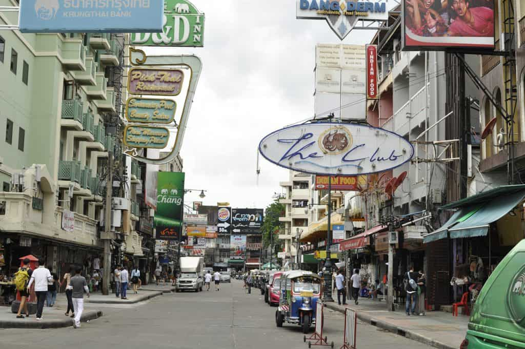 Khao San road in the daytime. Visit on our Bangkok 4 day itinerary