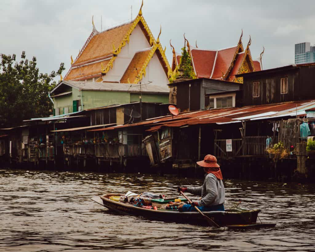 Canal tour in Bangkok with kids