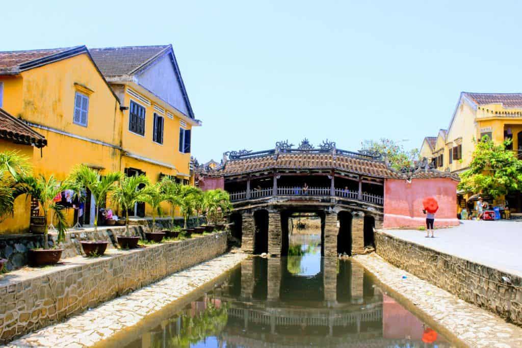Vietnam with Kids, Japanese bridge in Hoi An