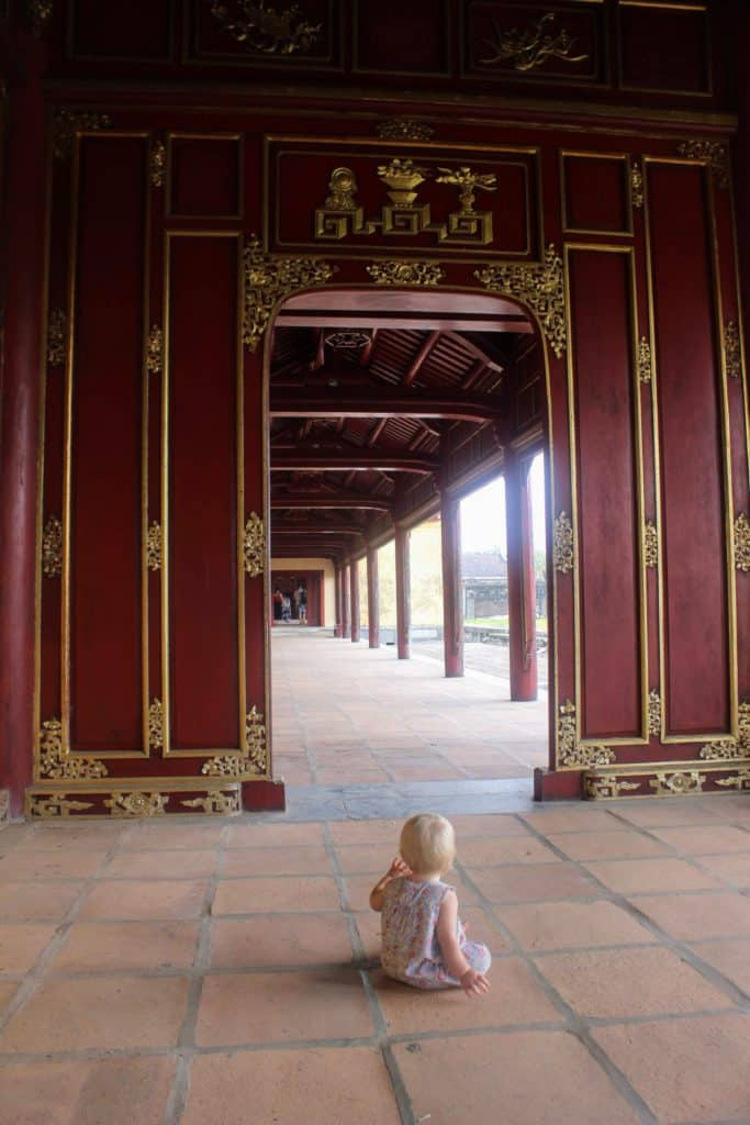 baby in vietnam temple