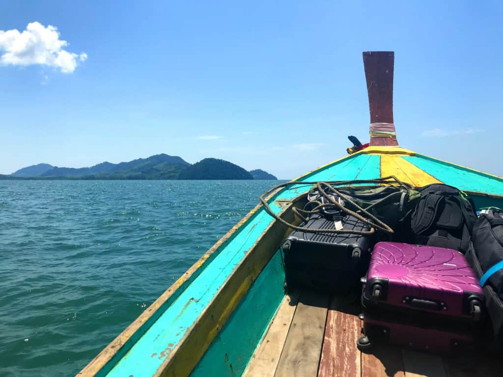Getting to Koh Libong by long-tail boat