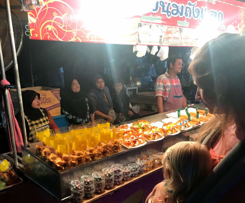 Festival market in Koh Libong at night