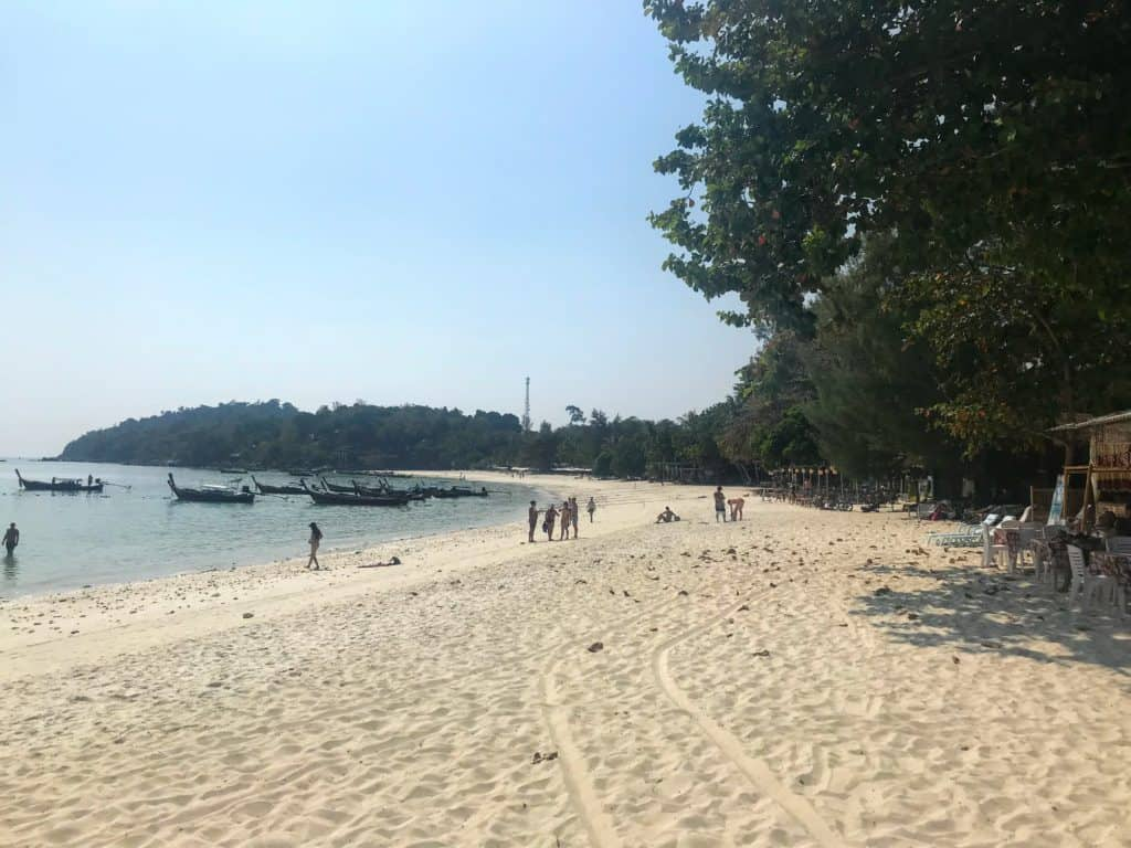 The main Pataya Beach on Koh Lipe.
